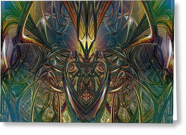 Candle Light Abstract Phenomenon Fx  Greeting Card