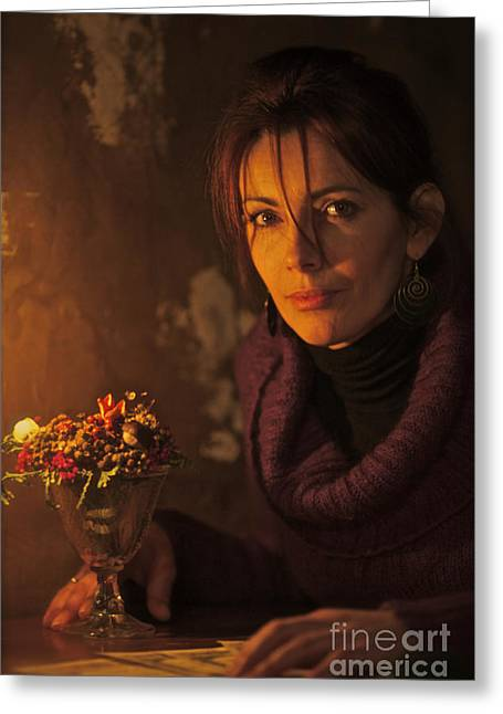 Candle Light Feelings. Greeting Card by  Andrzej Goszcz