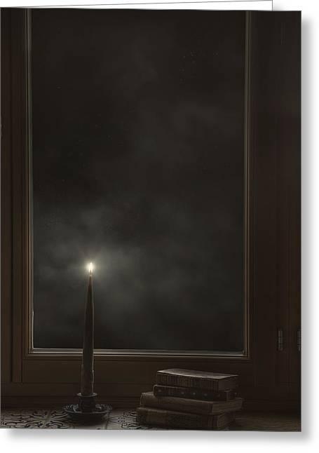 Candle Light Greeting Card by Joana Kruse