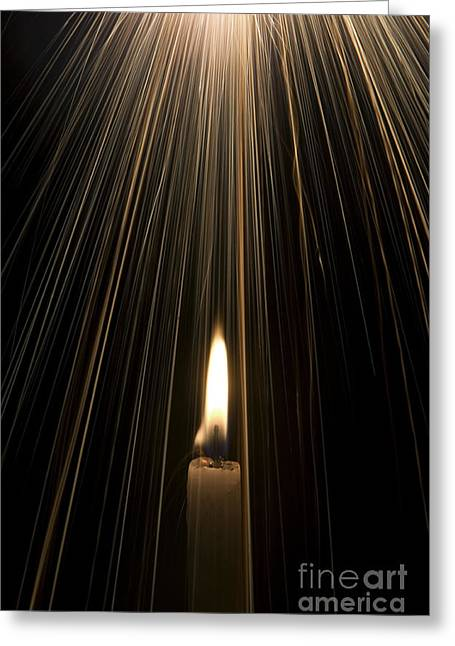 Candle Light Greeting Card by Tim Gainey