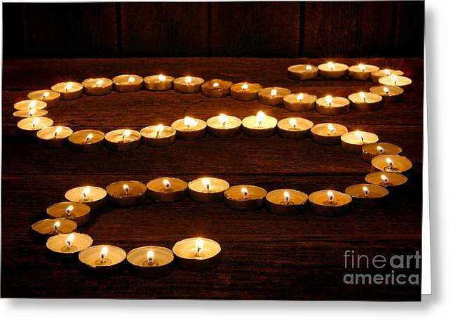 Candle Path Greeting Card by Olivier Le Queinec