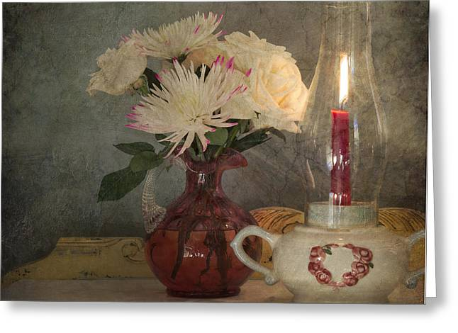 Candlelight Greeting Card by Betty LaRue