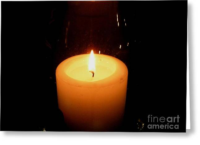 Candlelight Moments Greeting Card by Joseph Baril