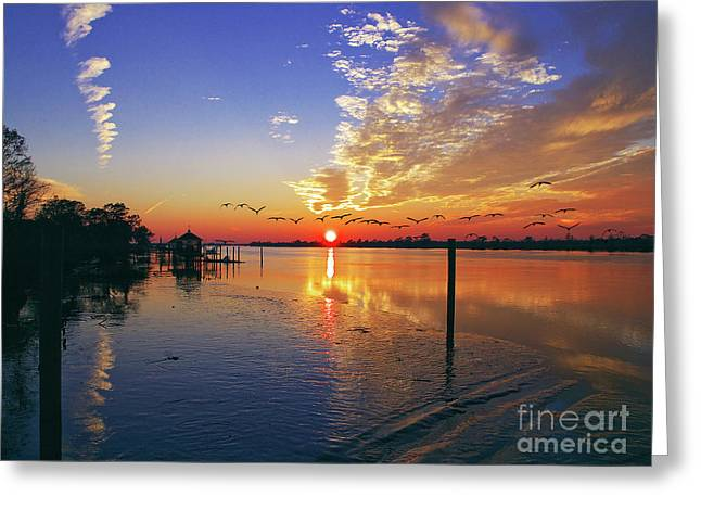 Candlelight Sunset Greeting Card