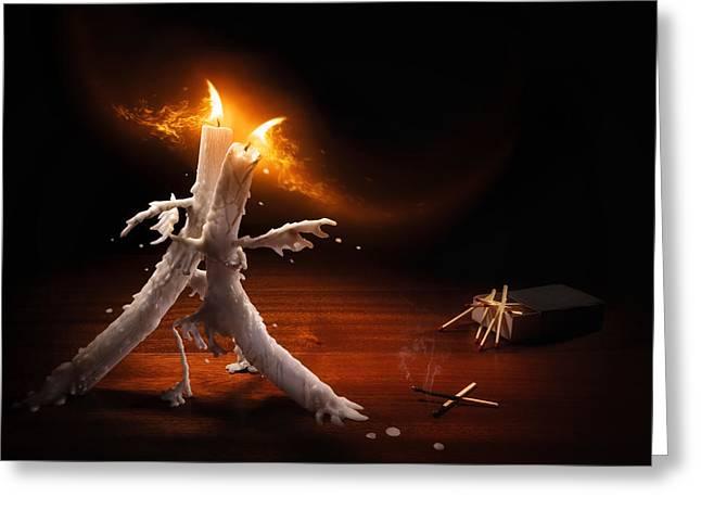 Candlelight Tango Greeting Card