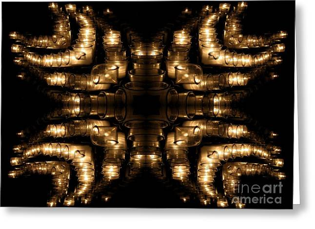 Candles Abstract 1 Greeting Card by Rose Santuci-Sofranko