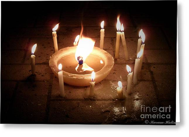 Candles For Innocent Souls Greeting Card