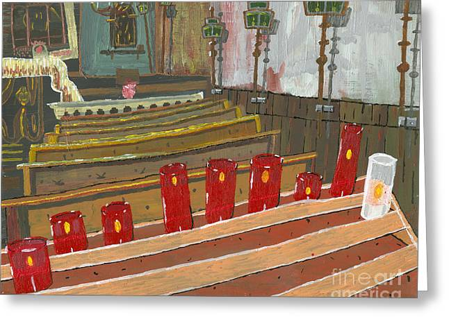 Candles In Cinque Terra Greeting Card