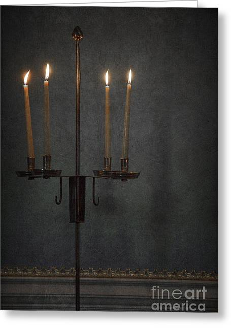 Candles In The Dark Greeting Card by Margie Hurwich