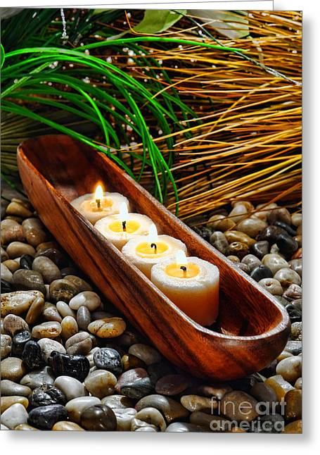 Candles Jungle  Greeting Card