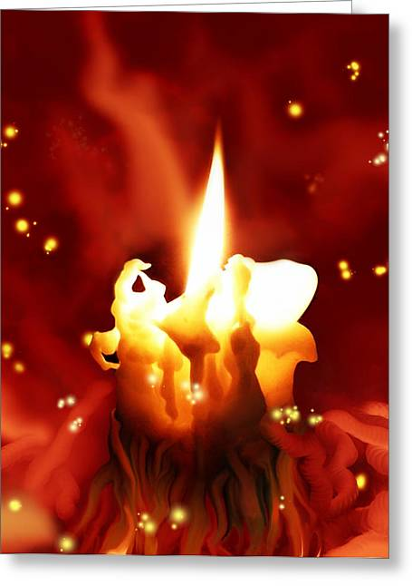 Candletown Greeting Card