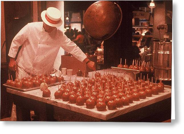 Greeting Card featuring the photograph Candy Apple Man by Rodney Lee Williams
