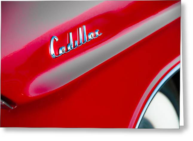 Candy Apple Red Greeting Card by David Pinsent