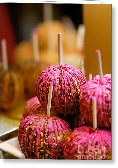 Candy Apples Greeting Card by Amy Cicconi