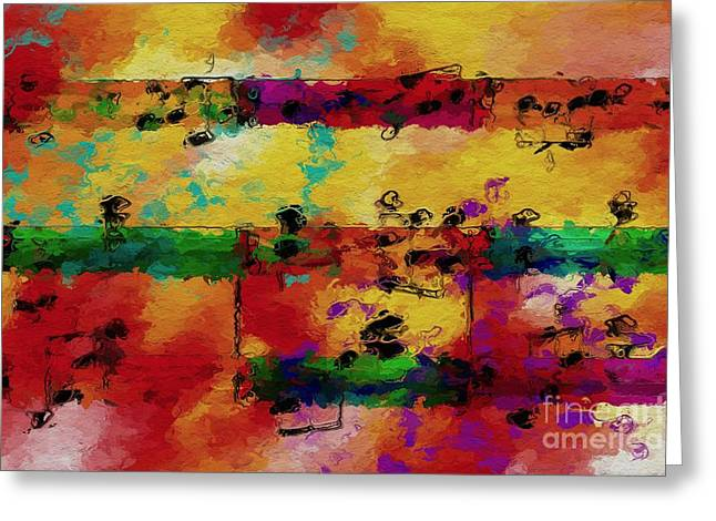 Greeting Card featuring the digital art Candy-coated Chords 2 by Lon Chaffin