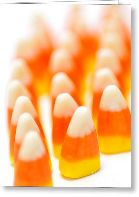 Candy Corn Army Greeting Card by Amy Cicconi