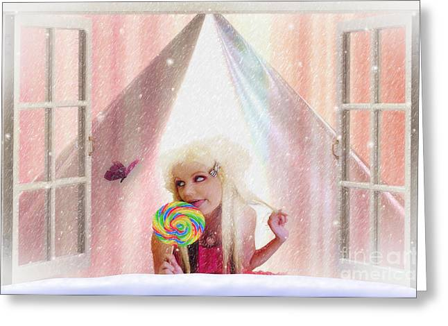Candy Kisses Greeting Card by Liane Wright