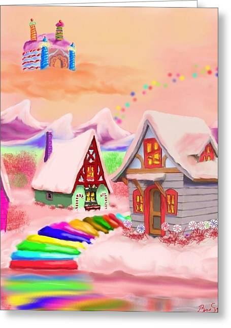 Candy Land Greeting Card by Brad Simpson