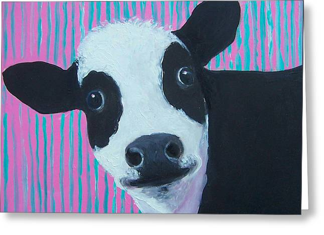 Candy The Cow Greeting Card