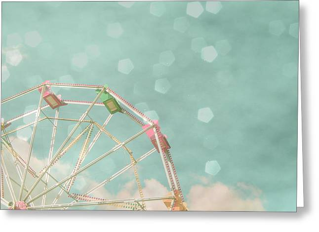 Candy Wheel Greeting Card by Cassia Beck