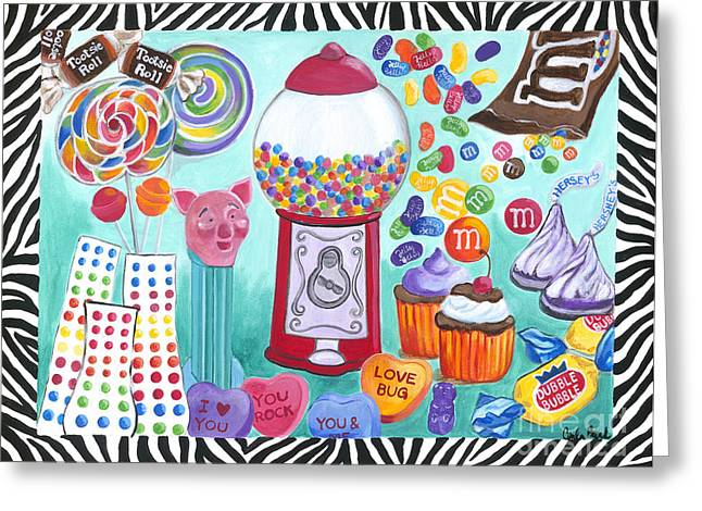 Greeting Card featuring the painting Candy Window by Carla Bank