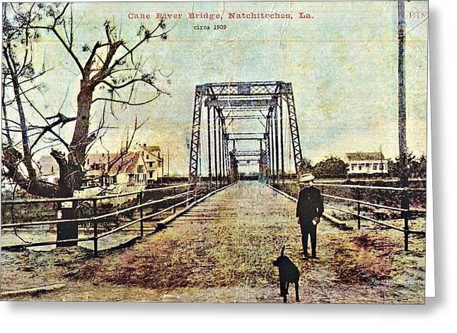 Cane River Bridge C1909 Greeting Card