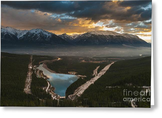 Canmore Sunrise Greeting Card by Ginevre Smith