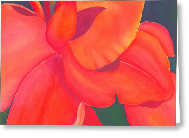 Canna Lily Greeting Card by Debbra Nodwell-Bender