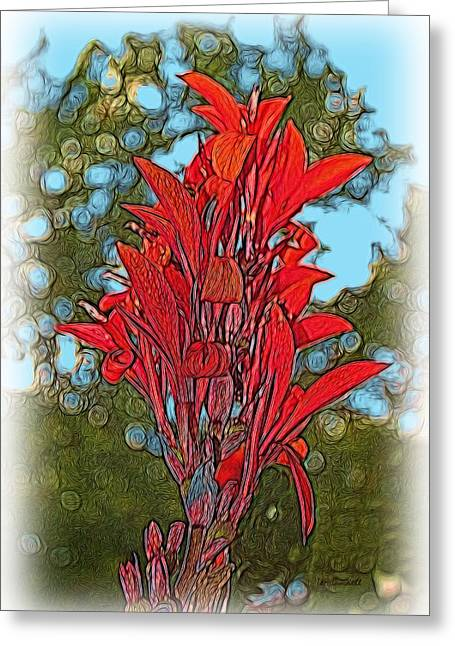 Canna Lily Greeting Card by Dennis Lundell
