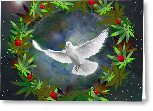 Cannabis Around The World Greeting Card