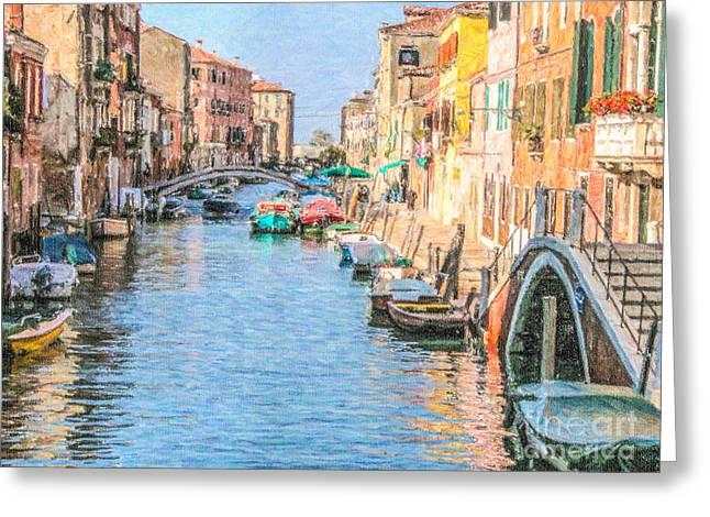 Cannareggio Canal Venice Greeting Card