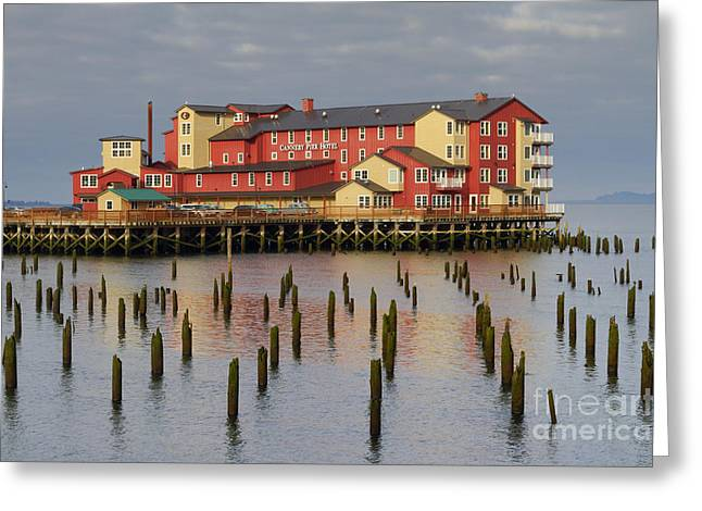 Cannery Pier Hotel Greeting Card by Mark Kiver