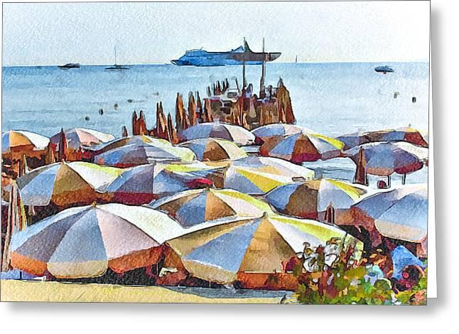Cannes Beach 2 Greeting Card