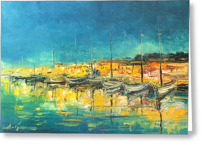 Cannes By Night Greeting Card