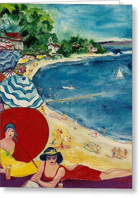 Greeting Card featuring the painting Cannes by Elaine Elliott