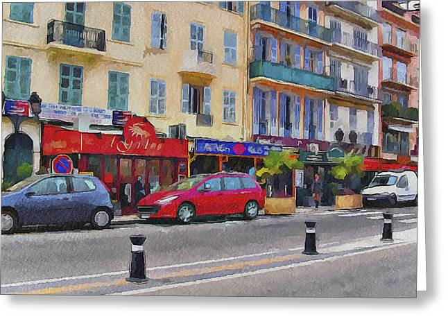 Cannes Streets 2 Greeting Card