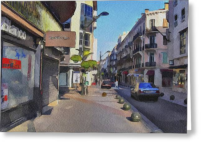 Cannes Streets 3 Greeting Card