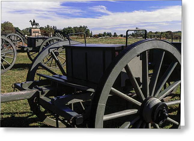 Cannon At Gettysburg National Military Greeting Card by Panoramic Images