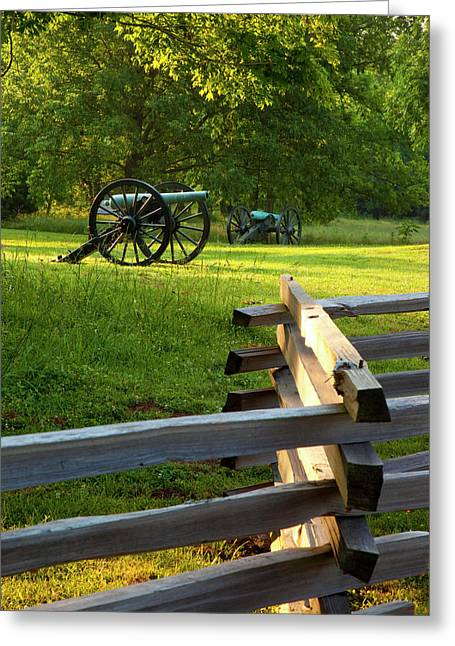 Cannon At Stones River National Greeting Card by Brian Jannsen