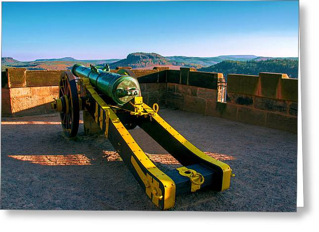 Cannon At The Fortress Koenigstein Greeting Card
