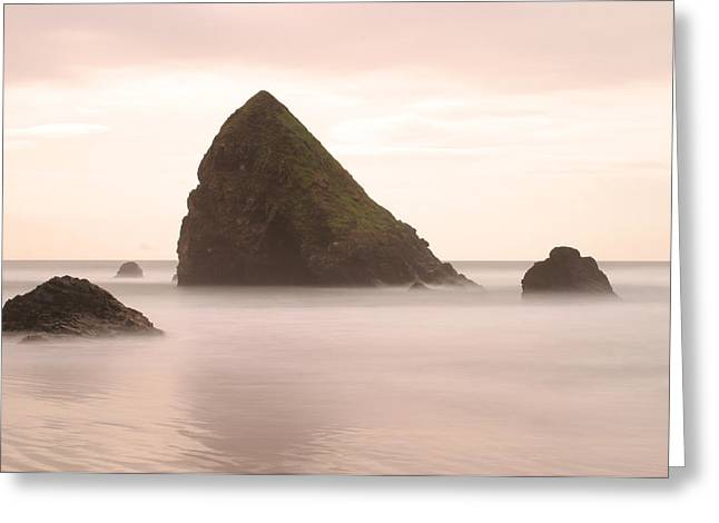Cannon Beach - 1 Greeting Card by Maxwell Amaro