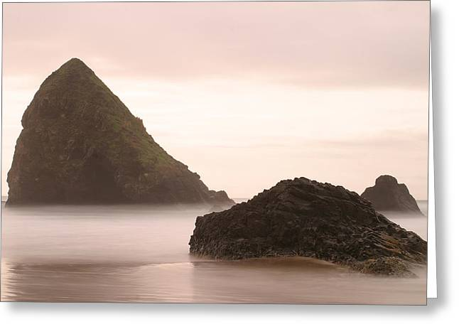 Cannon Beach - 2 Greeting Card by Maxwell Amaro