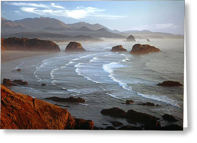 Cannon Beach At Sunset Greeting Card