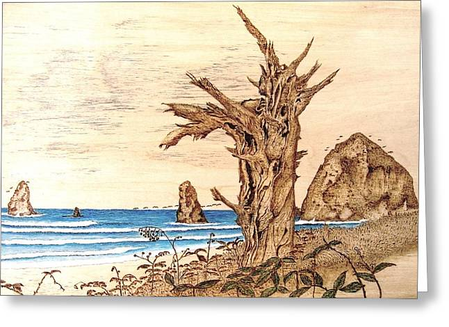 Cannon Beach In October Greeting Card by Roger Storey