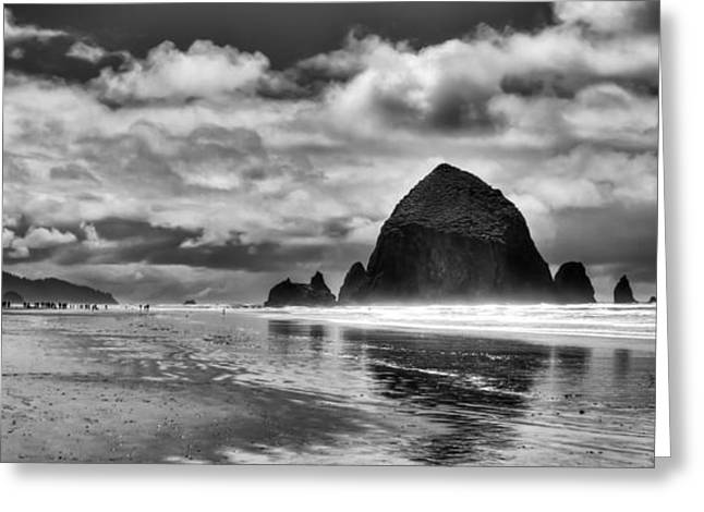 Cannon Beach On The Oregon Coast Greeting Card by David Patterson