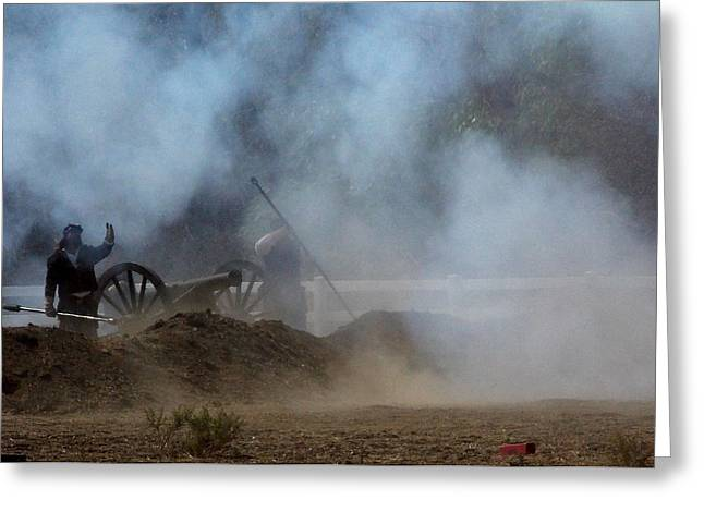 Cannon Fire 3 Greeting Card by Chuck Kemp