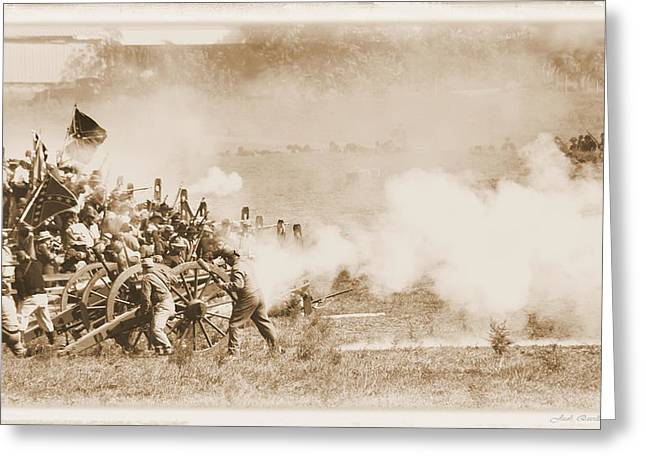 Greeting Card featuring the photograph Cannon Fire by Judi Quelland
