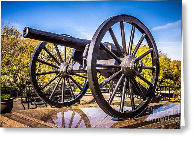 Cannon In New Orleans Washington Artillery Park Greeting Card by Paul Velgos