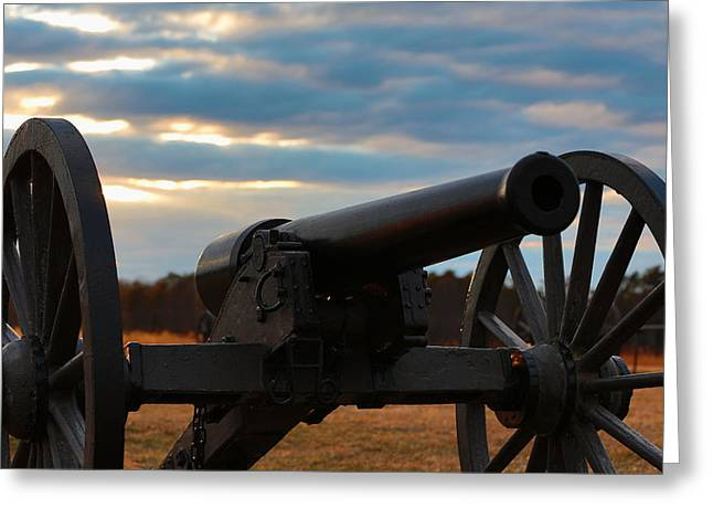 Cannon Of Manassas Battlefield Greeting Card
