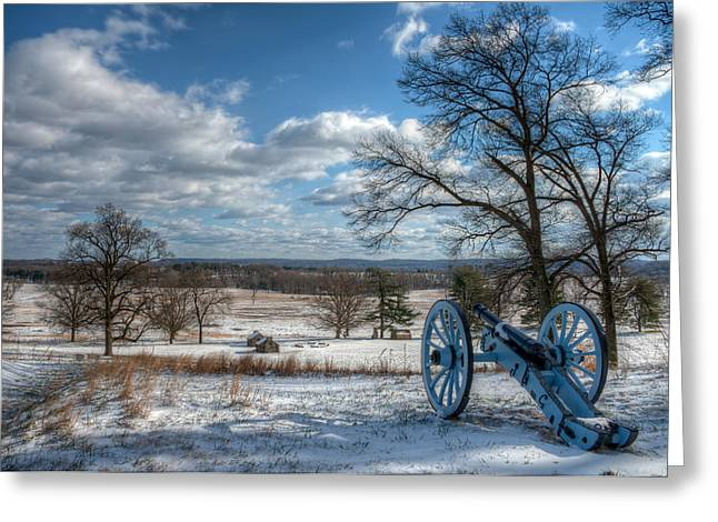 Cannon Overlooking Valley Forge National Historic Park Greeting Card